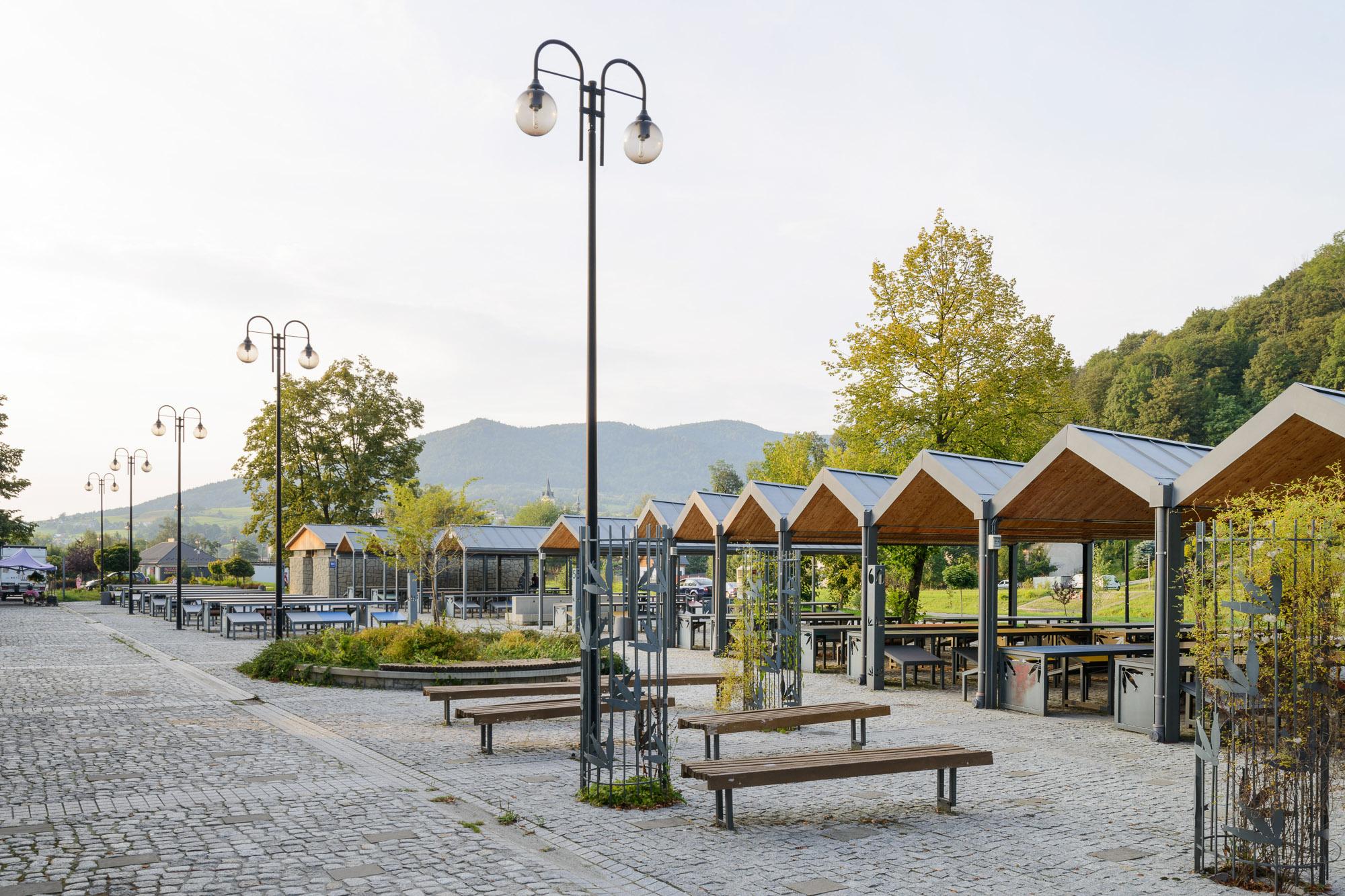 Plac Targowy, ul. Władysława Orkana, Mszana Dolna